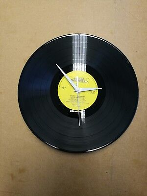 "Clock made from 12"" Record"