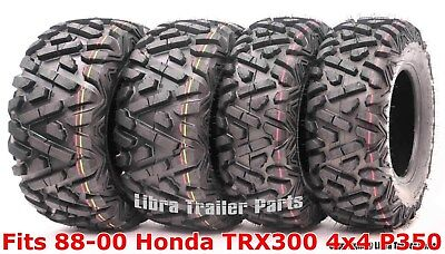Set 4 WANDA ATV tires 23x8-11 & 24x9-11 for 88-00 Honda TRX300 4x4 P350
