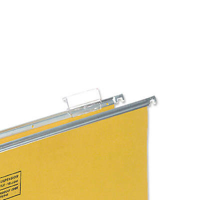 5 Star Office Tabs Plastic for Clenched Bar Suspension File Clear Pack 50