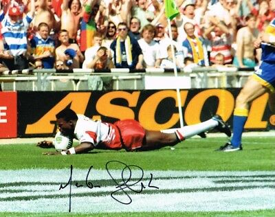 2.99 Sale Martin Offiah Rugby Legend Authentic Signed 10 X 8 Photo Coa