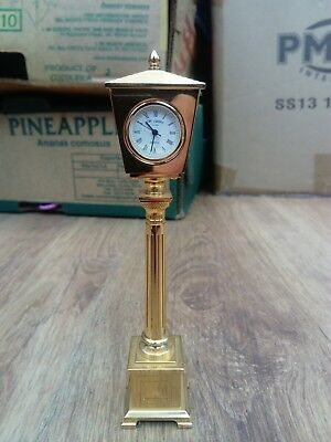 Gift Time Products Lamp Post Miniature Clock - Gold