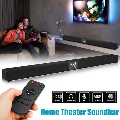 60W Wireless bluetooth Sound Bar 5.1 Soundbar 8 Speaker Remote Home TV Theater