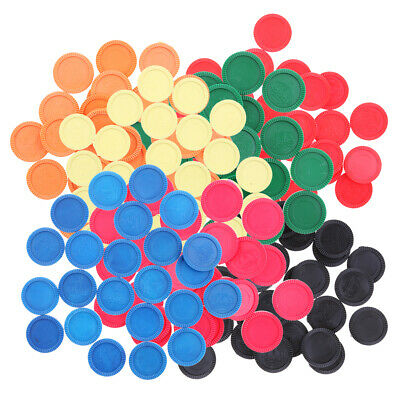 24x Plastic Counters Game Pieces Poker Gambling Currency Chips Party Fun DIY