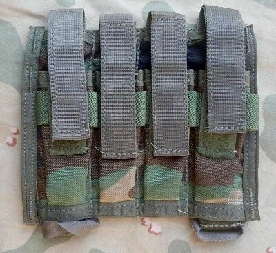 Paraclete Pre-MSA Woodland quad M9 Pistol Mag Pouch - CAG Delta ACE SOF holds 4