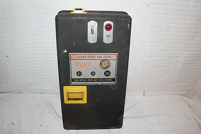 Vintage 1950's Coin-Op Box For Kids Ride Arcade Game Pop Machine Vending Sign