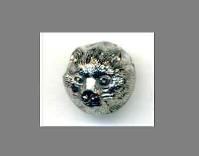 Antique Black Glass Button…Rare Cat Head