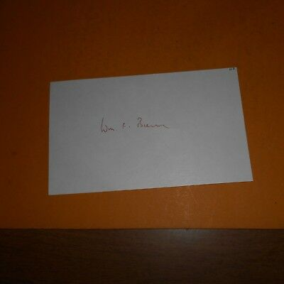 William F Buckley Jr. was an American conservative author Hand Signed Index Card