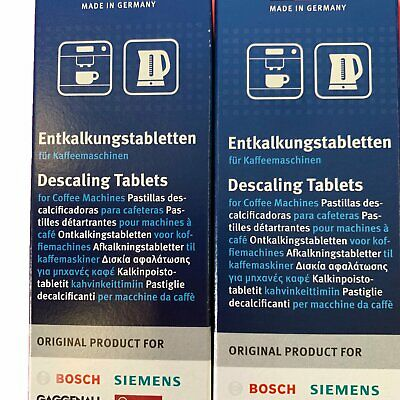 12x Bosch Tassimo Coffee Machine Descaling Tablets Siemens Gaggenau Neff Machine