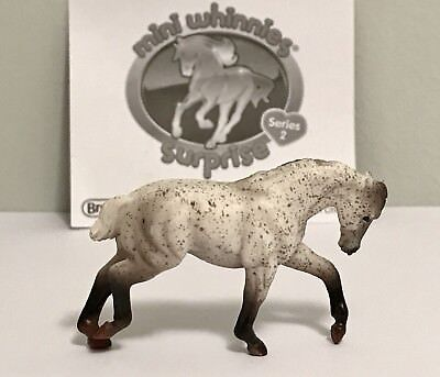 Breyer Mini Whinnie Pulling Draft Horse_Whisper_STUNNING_RETIRED_Great Condition
