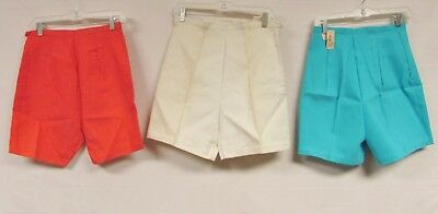 Lot of 7 Vintage 50s 60s DEADSTOCK NWT Shorts High Waist Pastel Sailor Pin Up