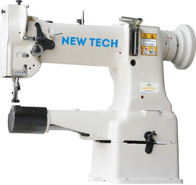 New Tech GC-8B Cylindrical Bed Compound Feed Lock-stitch Sewing Machine comelete