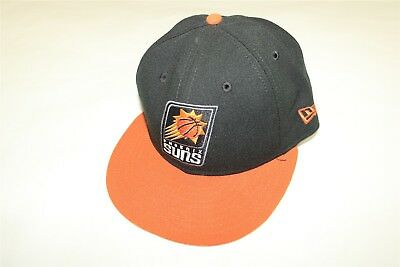 official photos bfdf9 08d32 ... reduced phoenix suns nba new era 59fifty 2 tone fitted hat black burnt  orange 7 5