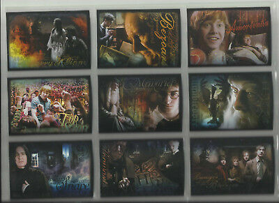 2009 Harry Potter: Half-Blood Prince Complete Set of 9 FOIL Chase Cards (R1-R9)