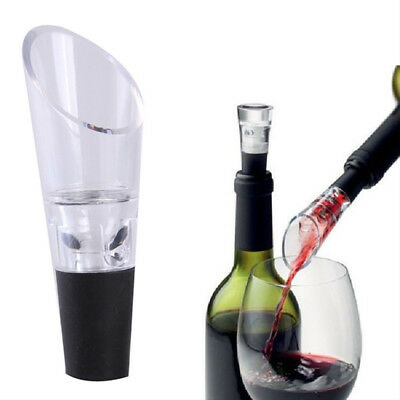 1pc Wine Aerator Pour Spout Acrylic Decanter Pourer Aerating Bottle Stopper