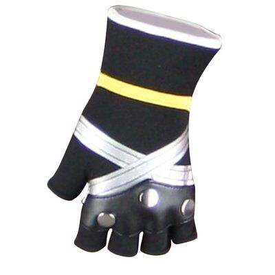 Kingdom Hearts Cosplay Costume Accessory Pair of Sora Black/Silver Gloves