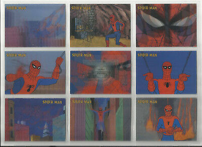 "2010 Spider-Man TV Animated Series SEALED ""Set of 9"" LENTICULAR Cards (L1-L9)"