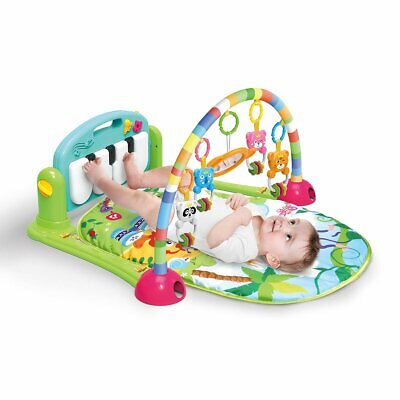 4 in 1 Fitness Baby Gym Play Mat Lay Play Music And Lights Fun Piano Green Boys