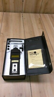 Shimpo Hand Digital Tachometer DT-105 w/ Wheel & Case *GREAT CONDITION*