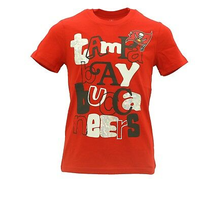 Tampa Bay Buccaneers NFL Team Apparel Girls Kids Youth T-Shirt New With Tags 01c72d124