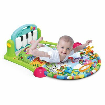 Baby Gym Play Mat Lay & Play 4 in 1 Fitness Music And Lights Fun Piano  Girl