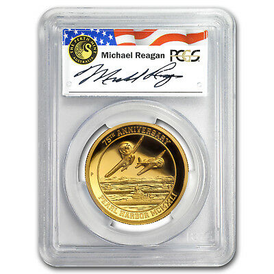 2016 Tuvalu 1 oz Gold Pearl Harbor PR-70 PCGS (High Relief) - SKU#118394