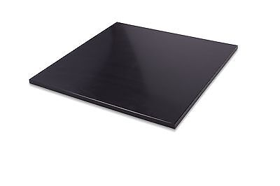 "HDPE Black Plastic Polyethylene Sheets 0.375"" - 3/8"" Thick - You Pick The Size"