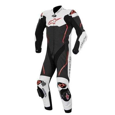 Alpinestars 2015 Atem 1Pce Suit Black/White/Red    Motorcycle Road Track Race Le