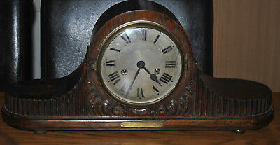 Antique Gustav Becker Oak Napoleon Hat Mantle Clock Chiming Spares and Repairs