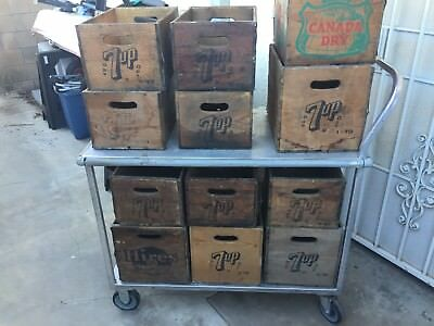 12 Vintage Wood Soda Pop Crates