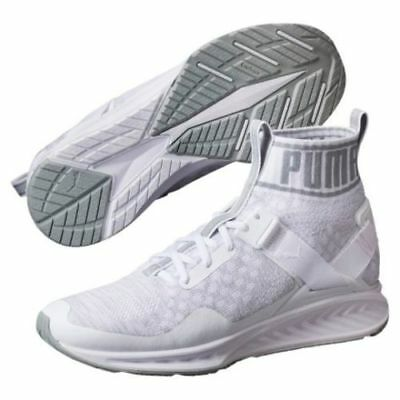 Puma Ignite EvoKnit White Quarry Vaporous Gray 189766 02 Women s Sz.9 a86ea13f6