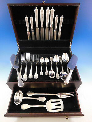 Soubise by Puiforcat France Sterling Silver Flatware Set Service 33 pcs Dinner