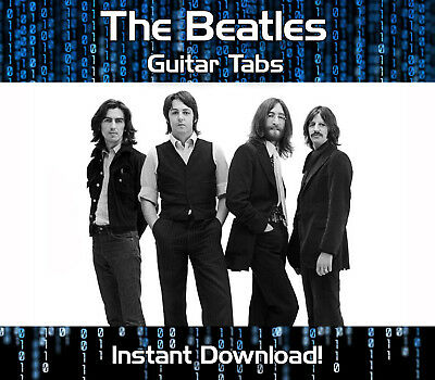 The Beatles Rock Pop Guitar Tabs Tablature Song Book Software Download
