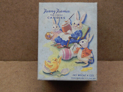 Vintage Fanny Farmer Easter Candy Box & Chenille Bunny