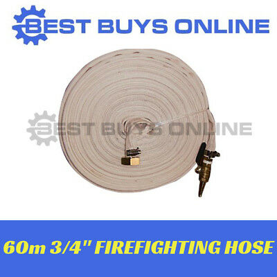New FIRE FIGHTING HOSE 60M Fire Fighter Water Transfer Pump Hose