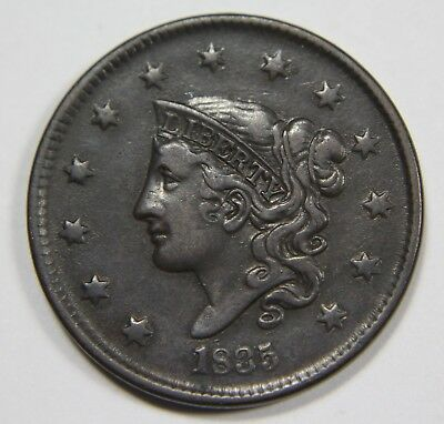 1835 Head of 36 Liberty Matron Head Large Cent Penny Old US Coin NR P1R XX029
