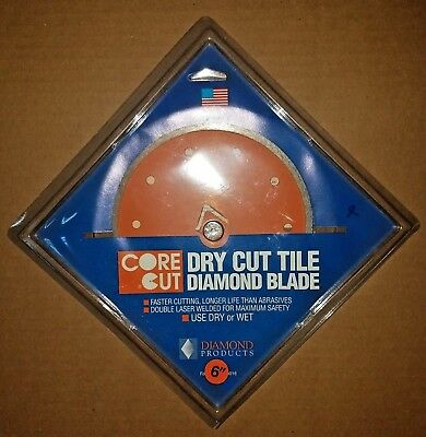 """Diamond Tile Saw Blade 6"""" Wet/Dry Cut Diamond Products Pack Of 4"""