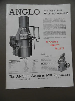 c.1940 ANGLO AMERICAN MILL CORP Catalog Brochure Hammer Mill Hay Cutter Vintage