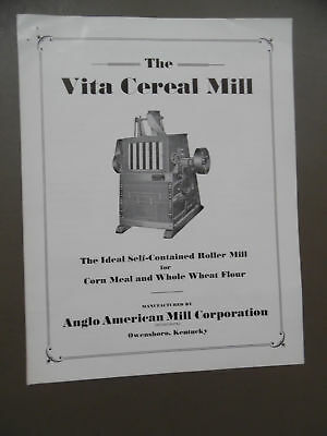 c.1940 VITA CEREAL MILL Catalog Brochure Anglo American Mill Corp Owensboro KY