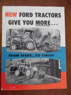1958 FORD TRACTOR Catalog Brochure 851 Powermaster 651 Workmaster Fordson FMD
