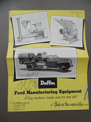1950 DAFFIN Feed Manufacturing Equipment Catalog Feed-U-Nit Hammer Mill Vintage