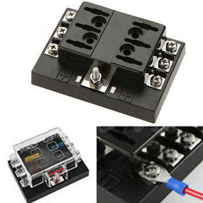 1 In 6 Out Power Distribution Block Atc Automotive Fuse Panel / Stand 6-Way Hot