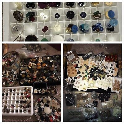 Huge Variety 9.5 Lb Lot Victorian Antique Vintage, Mid-Century, Military Buttons