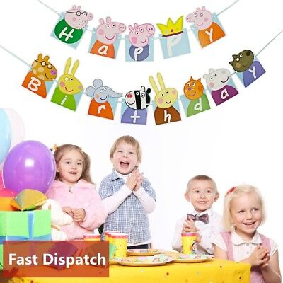 Baby Child Kids Celebration Happy Birthday Paper Banner Bunting Party Decoration