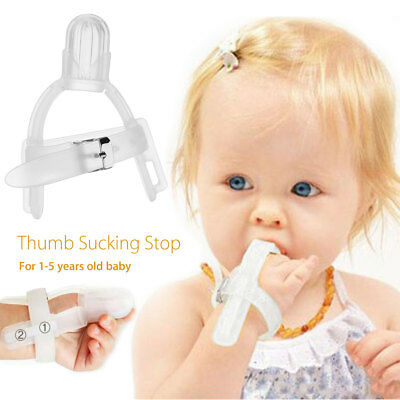 Baby Care Silicone Healthy Thumb Gloves Prevent Stop Finger Sucking Teether YH
