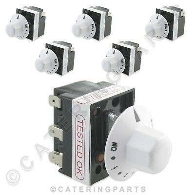 6 x BACKER ELECTRIC 13A SIMMERSTAT ENERGY REGULATORS FOR HEATED APPLIANCES