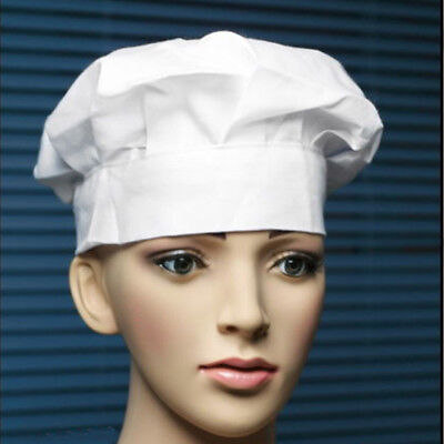 Chef Hat Adult Elastic White Catering Baker Kitchen Adjustable Cook Chef Hat Cap