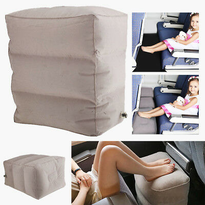 3 Layer Inflatable Travel Footrest Leg Rest Travel PVC Flocking Pillow Lay Down