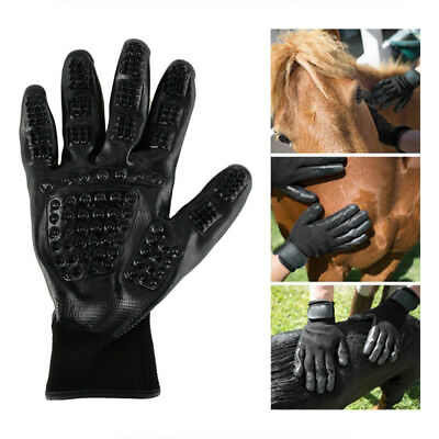 Pet Dog Cat Horse Grooming Gloves Hair Remover Massgae Brush Puppy Cleaning Tool
