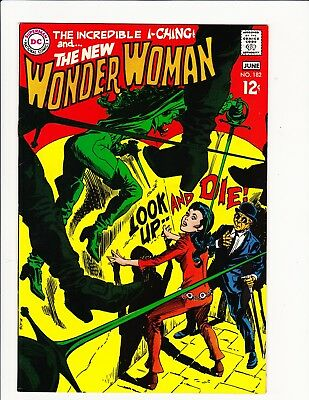 Wonder Woman #182 May 1969 Dc Silver Diana Prince No Costume Cover! 1St Drusilla