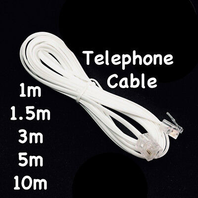 Telephone Home Phone Cord Cable Plug Extension For ADSL2 ADSL | Filter Modem Fax